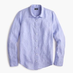 New JCREW Blue slim perfect shirt in Irish linen